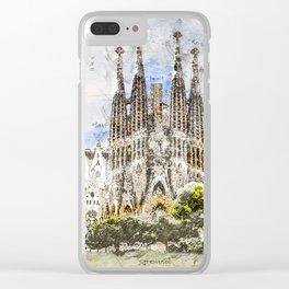 Sagrada Familia, Barcelona Spain Clear iPhone Case
