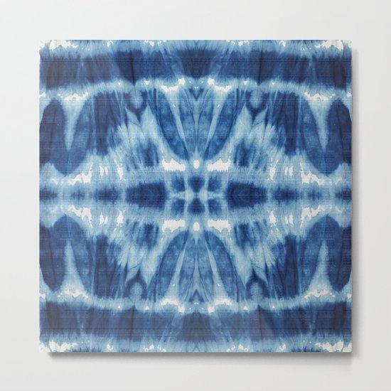 Tie Dye Blues Twos Metal Print