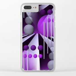 3D - abstraction -93- Clear iPhone Case