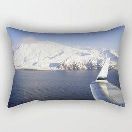Wing view of Adak, Alaska Rectangular Pillow