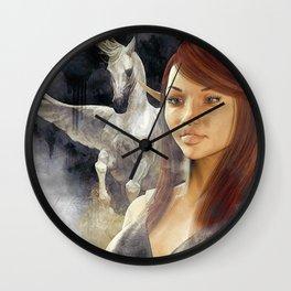 pegaso and  warrior Wall Clock