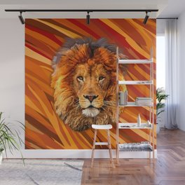 Old Lion Wall Mural