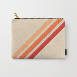 Vintage Retro 70s Red Stripes Carry-All Pouch