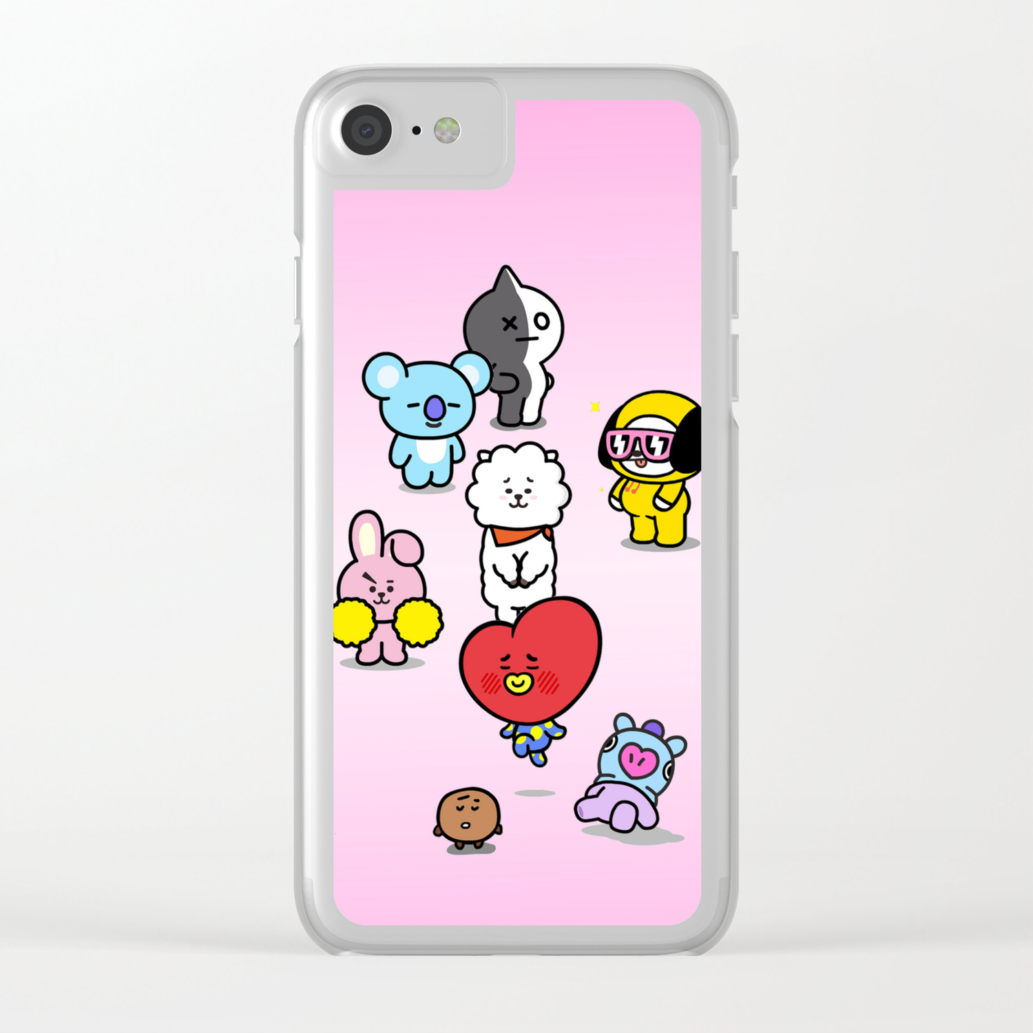 innovative design acd72 3abc5 BTS BT21 Characters Clear iPhone Case