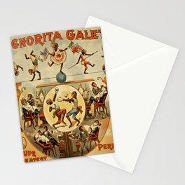 Vintage poster - Performing Monkeys Stationery Cards