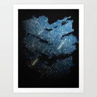 Chevron Starlight Art Print