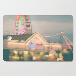 Ferris Wheel photo. Santa Monica.  Let's Be Kids Again Cutting Board