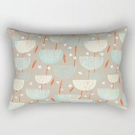 Botanical Block Print M+M Latte by Friztin Rectangular Pillow
