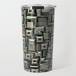 Geometric Metal Abstract Travel Mug