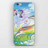 mlp iPhone & iPod Skins featuring Rainbow Dash - MLP by mmishee