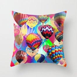 Colored Balloons. Throw Pillow