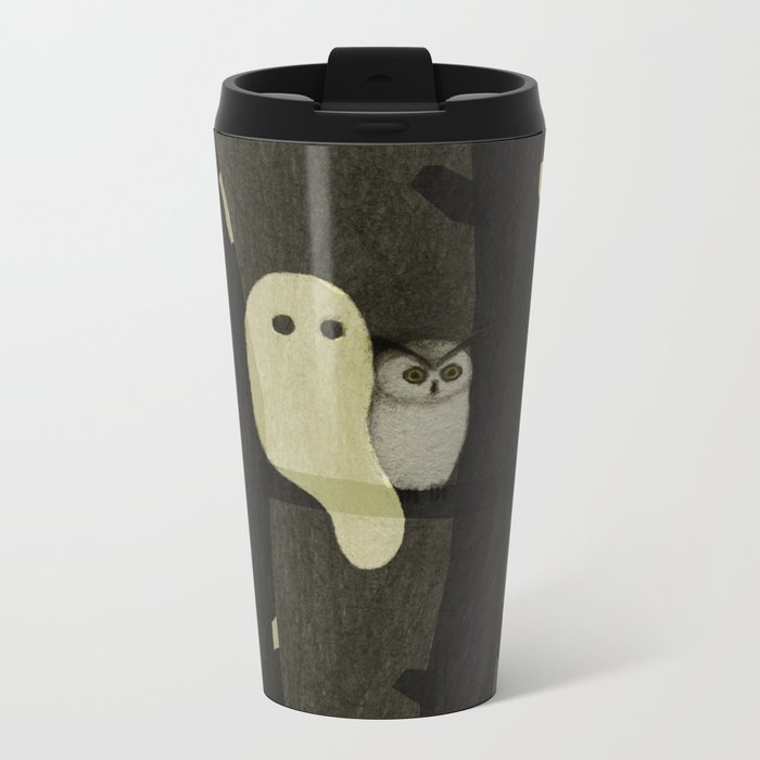 Little Ghost & Owl Travel Mug