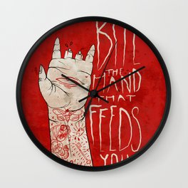 bite the hand. Wall Clock