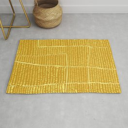 Categorize Print in Yellow Rug