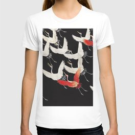 Furisode with a Myriad of Flying Cranes (1910-1920) by anonymous T-shirt