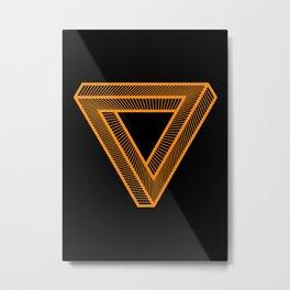 The Penrose Triangle - The Eternal Return, Design for Wall Art, Prints, Posters, Tshirts, Men, Women, Kids Metal Print
