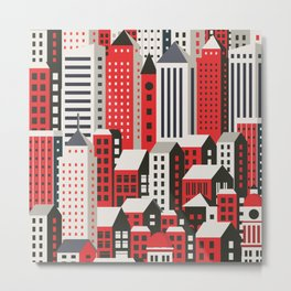 Urban city Metal Print