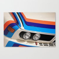 bmw Canvas Prints featuring BMW CSL by Internal Combustion