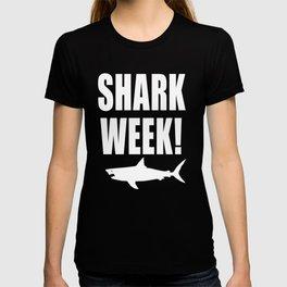 Shark week (on black) T-shirt