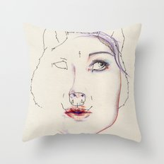 Attentive Throw Pillow
