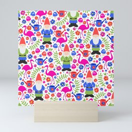 Gnome Garden Mini Art Print