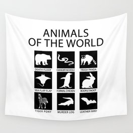 RARE ANIMALS OF THE WORLD Wall Tapestry