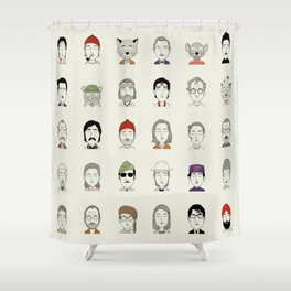 The Characters of W Shower Curtain