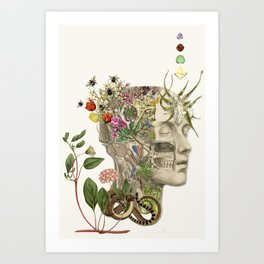 master of my own mind - anatomical art by bedelgeuse Art Print