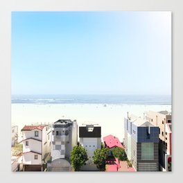 when the sky matches the ocean - Downtown Santa Monica, CA Canvas Print