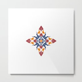 Old Armenian Flower by Ania Mardrosyan Metal Print