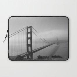 The Golden Gate Bridge In A Mist Laptop Sleeve