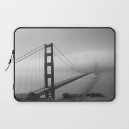 The Golden Gate Bridge In A Mist Laptop Sleeve