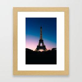 Eiffel Tower at Sunset Framed Art Print
