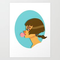 bubblegum Art Prints featuring Bubblegum  by Wvaja