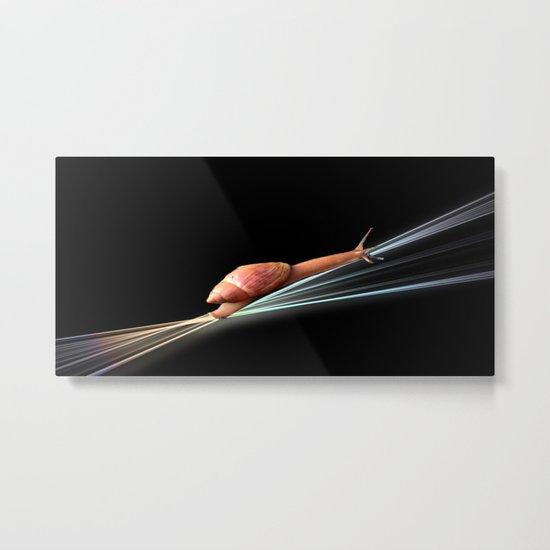 Snail (on black background) Metal Print