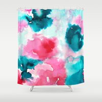 water color Shower Curtains featuring Water color by moniquilla
