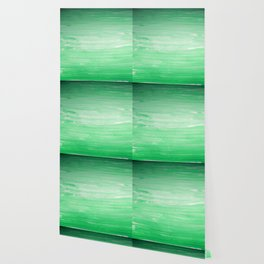 Ombre Green Stripes Wallpaper