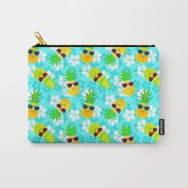 Funny Summer Tropical Pineapples Carry-All Pouch