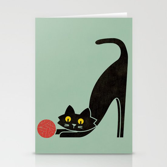 Fitz - the curious cat Stationery Cards
