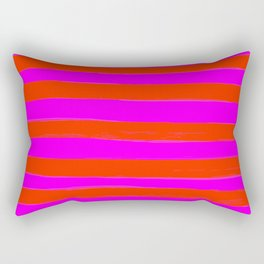 Sweet Stripes in Pink and Red Line Art #decor #society6 #buyart Rectangular Pillow