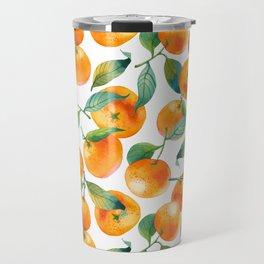 Mandarins With Leaves Travel Mug