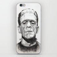 frankenstein iPhone & iPod Skins featuring Frankenstein by calibos