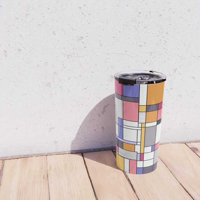 Abstract colored shapes and forms Travel Mug