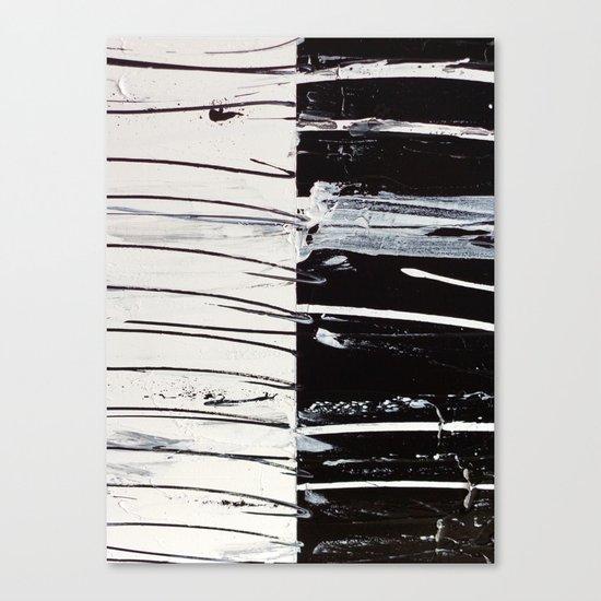 Black & White Close Up Canvas Print