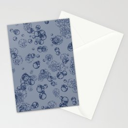 Arabidopsis thaliana (thale cress) plant protoplast cells under the microscope blue on blue Stationery Cards