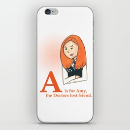 A is for Amy iPhone Skin