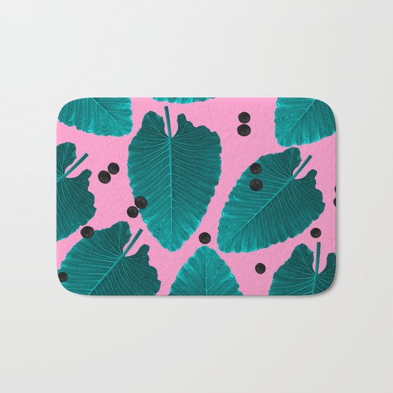 Tropical Pink Bath Mat