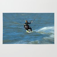 surfer Area & Throw Rugs featuring Surfer by Laake-Photos