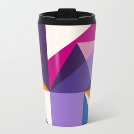 Abstract modern geometric background. Composition 5 Metal Travel Mug