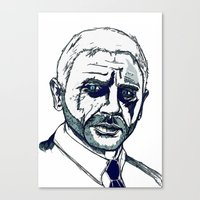 james bond Canvas Prints featuring Bond. by Thomas Wright Illustration